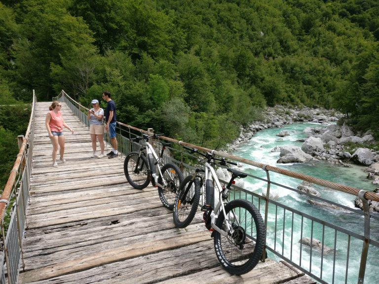 E-mountainbiken rondom Kobarid