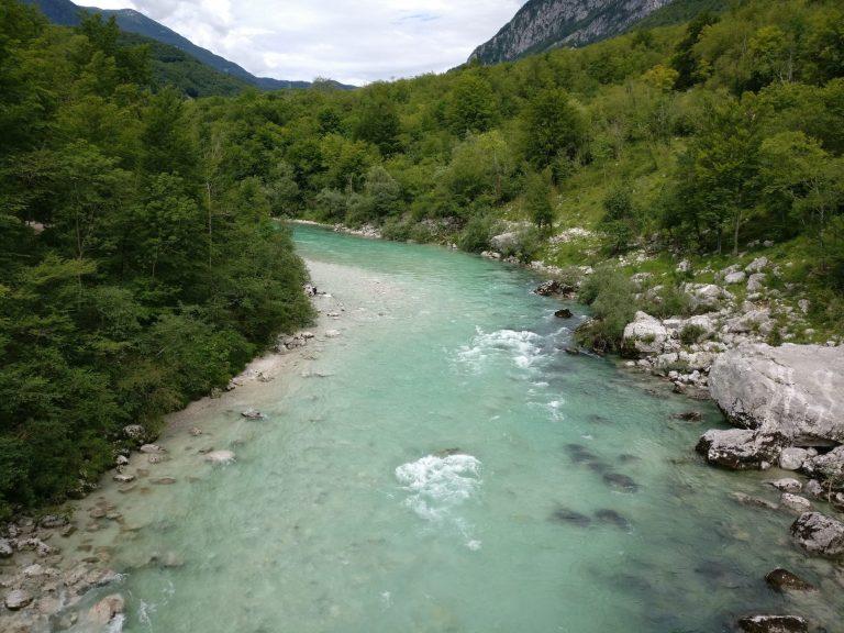 Raften op de Soĉa rivier