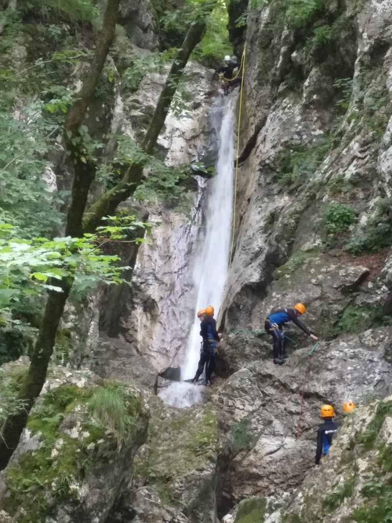Canyoning in Soča Vallei