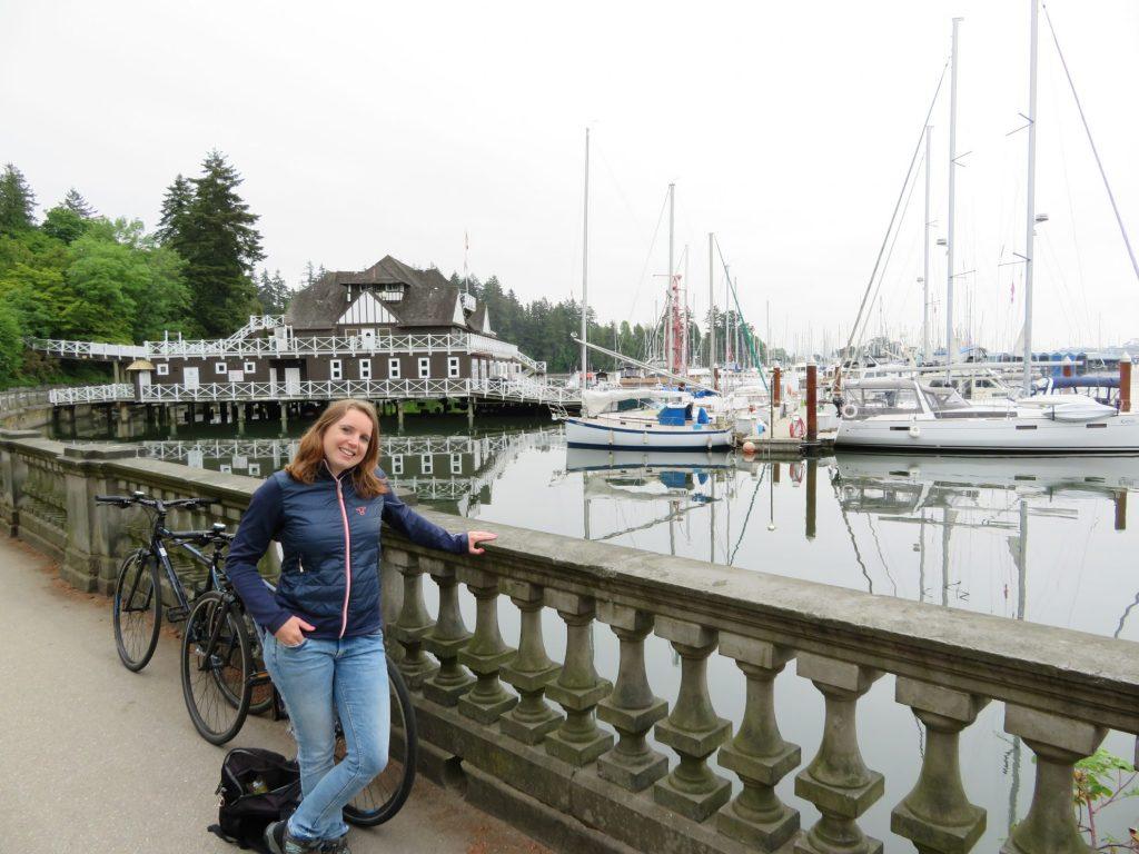 Vancouver Stanley Park Seawall - Start van onze fietstocht