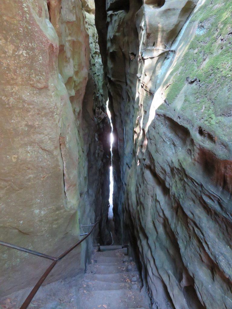 Mullerthal E1 trail - steile trappen