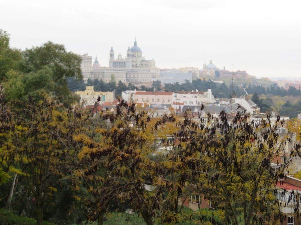 Uitzicht Parque del Oeste Madrid