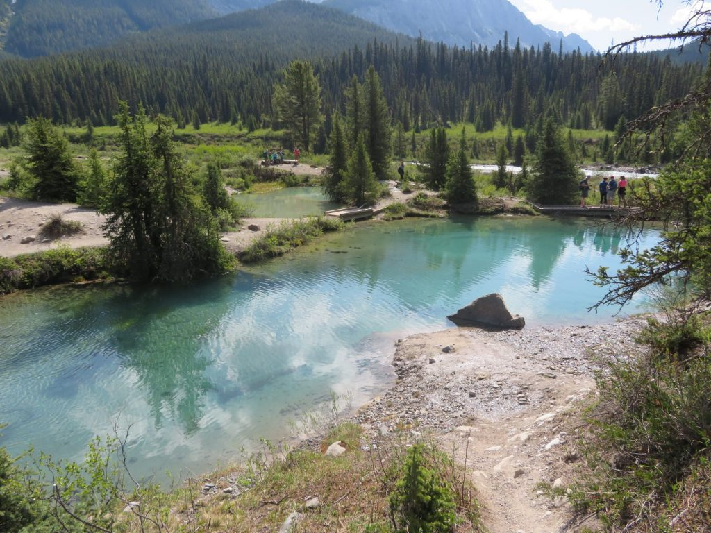 Hikes in Jasper en Banff: Johnston Canyon en de Ink Pots