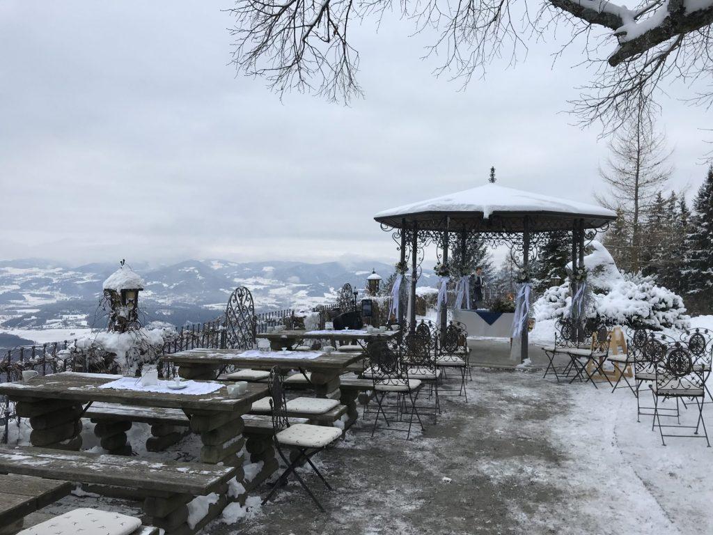 Winters weekend Karinthië Oostenrijk: Bruiloft op Magdalensberg