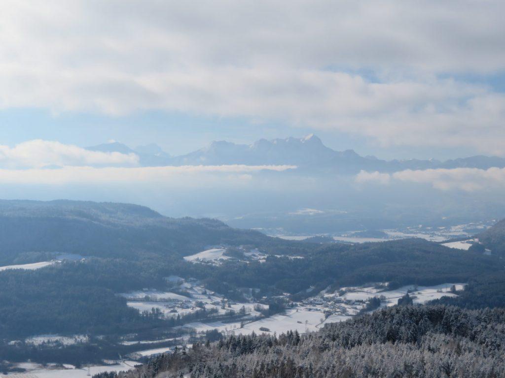 Winters weekend Karinthië Oostenrijk: Pyramidenkogel view Karawanken