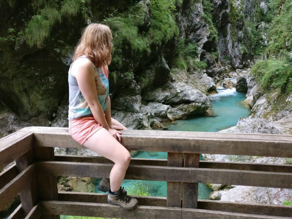 In de Tolmin Gorge