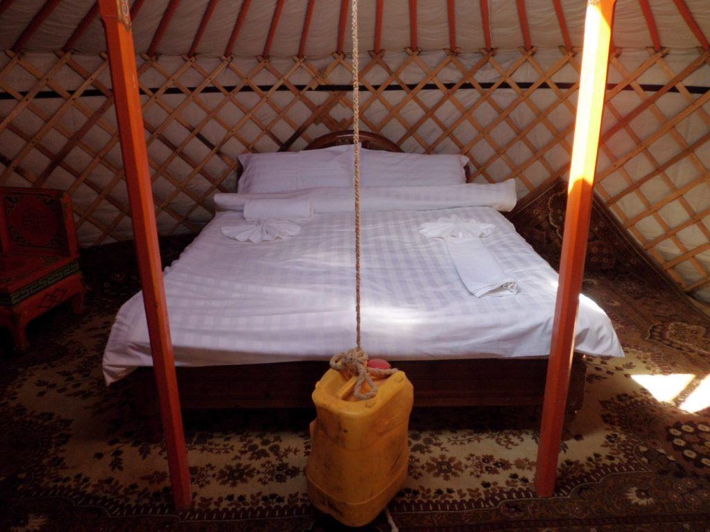 Slapen in een Mongoolse ger