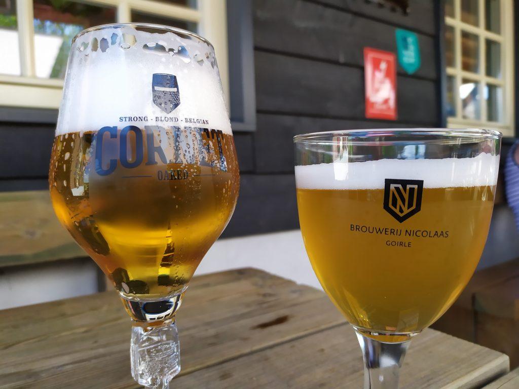Roovertsche Leij: biertje op het terras