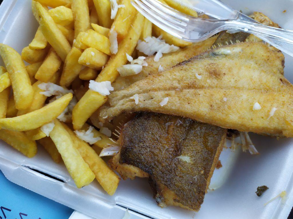 Schar eten bij Visser-Vis Lauwersoog